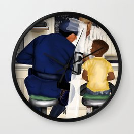If Norman Rockwell Lived in Today's Society Wall Clock