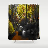 moss Shower Curtains featuring Moss by Nev3r