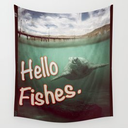 Hello Fishes Wall Tapestry
