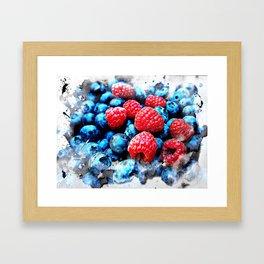 Fruits and berrys V Framed Art Print