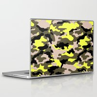 camouflage Laptop & iPad Skins featuring camouflage by RIZA PEKER
