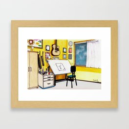MEMORIES OF MY INNER CHILD 3# Art Studio of my Dreams Framed Art Print