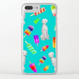 WEIMS AND POPSICLES Clear iPhone Case
