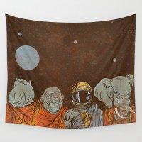 spiritual Wall Tapestries featuring Spiritual Animals by Thomcat23