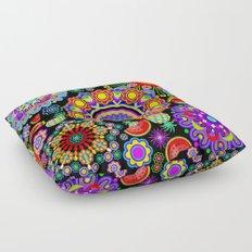 Mandalas & Exotic Fruits Pattern Floor Pillow