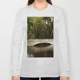 Beautiful White Magnolia Plantation Bridge Long Sleeve T-shirt
