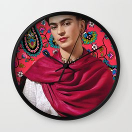 Frida Paisley Wall Clock
