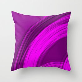 Semicircular sections of pink metal with rays of light and strings. Throw Pillow
