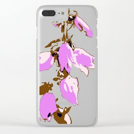 Crzy Harebell Clear iPhone Case