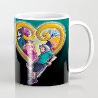kingdom hearts Mugs featuring Kingdom of Adventure // Adventure Time // Hearts by ⚡eizure ⚡quid ⚡tudio