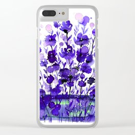 Floral Charm No.1A by Kathy Morton Stanion Clear iPhone Case
