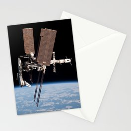 Endeavour docked to ISS Stationery Cards