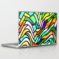 stained glass Laptop & iPad Skins featuring Stained glass by haroulita
