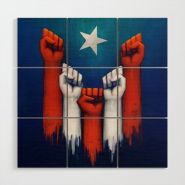 Puerto Rico power of the people Wood Wall Art