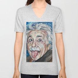 ALBERT EINSTEIN - watercolor portrait Unisex V-Neck