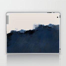 Abstract, blue, beige, indigo Laptop & iPad Skin
