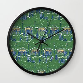 Let's Go to the Market at Night! – Xmas Edition Wall Clock