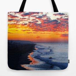 Sunrise Huntington Beach Pier   12/12/13 Tote Bag