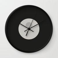 death star Wall Clocks featuring Death Star by VineDesign