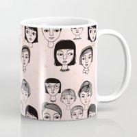 faces Mugs featuring Faces by Jonny Bateau