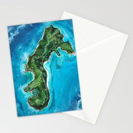 Water Island Map Stationery Cards