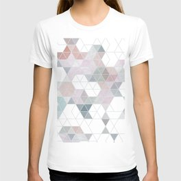 Abstract Snow on Soft Geometry #abstractart #winterart T-shirt