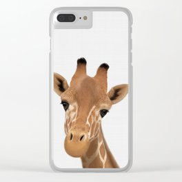 Safari nursery art, Giraffe print, Safari animals wall art, Baby giraffe Clear iPhone Case