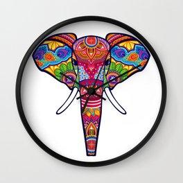 COLORFUL ELEPHANT Wall Clock