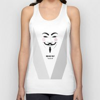 anonymous Tank Tops featuring Anonymous by Nena Loca