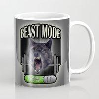 gym Mugs featuring Beast mode on / gym by tshirtsz