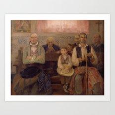 José Benlliure Gil , 1855 - 1937, Mass in the Chapel Art Print