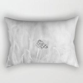 Junonia coenia, Common Buckeye Butterfly Black and White Rectangular Pillow
