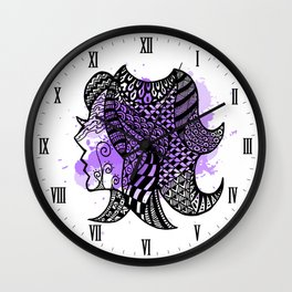 Zodiac Zentangle - Virgo Wall Clock