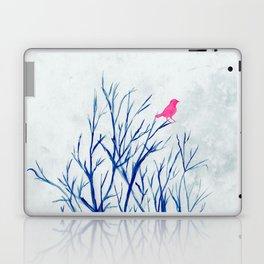 Perching bird on winter tree Laptop & iPad Skin