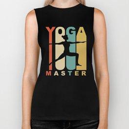 Vintage Style Yoga Master Warrior Two Yoga Pose Retro Biker Tank