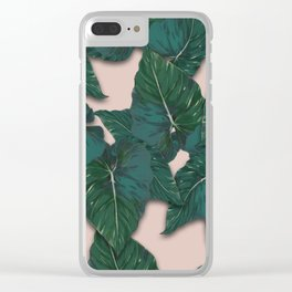 Jungle leaves monstera Clear iPhone Case