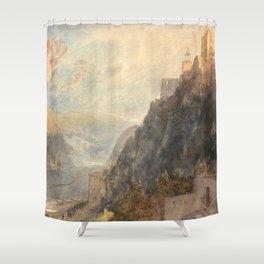 "J.M.W. Turner ""Rheinfels Looking to Katz and Gourhausen"" Shower Curtain"