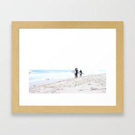Finding Waves Framed Art Print