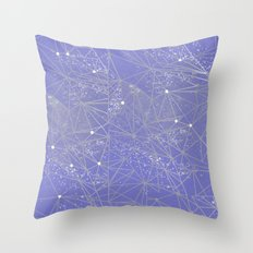 geometry of lilac space Throw Pillow