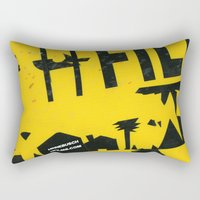 2001 Rectangular Pillows featuring hfi SIGN 2001 by David Hinnebusch