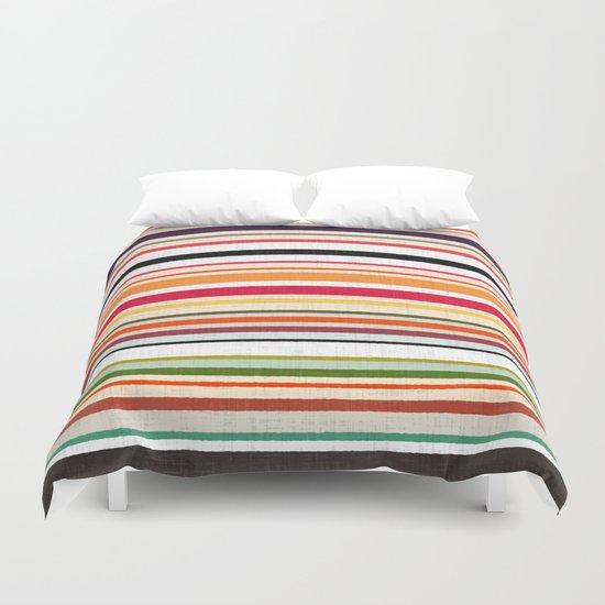 apartment stripe Duvet Cover