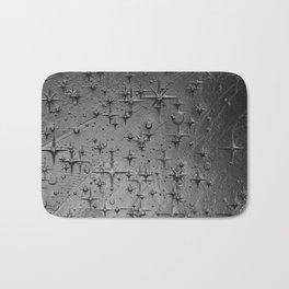 Black Clay Star Etching Texture Bath Mat