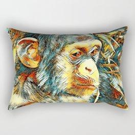 AnimalArt_Chimpanzee_20170906_by_JAMColorsSpecial Rectangular Pillow