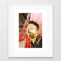 radiohead Framed Art Prints featuring Radiohead by Ferdinand Bardamu