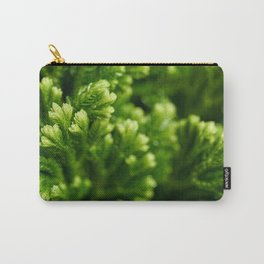 Green floral background Carry-All Pouch