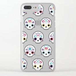 Cute sugar skulls B Clear iPhone Case