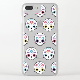 Cute sugar skulls B Clear iPhone Case