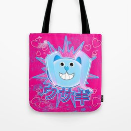 Rabbit in pink and blue! Tote Bag
