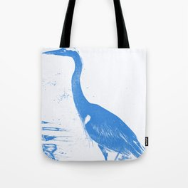graphic heron Tote Bag