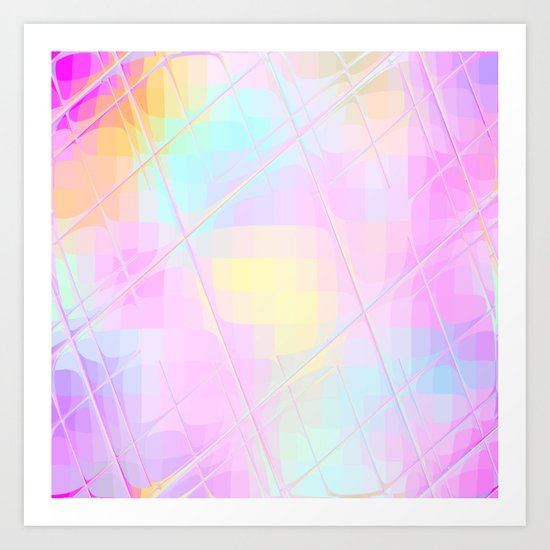 Re-Created Twisted SQ L by Robert S. Lee Art Print